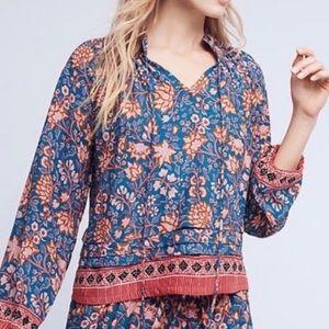 Anthro Nat by Natalie Martin boho floral blouse